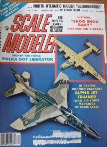 Scale Modeler February 1983 Scharnhorst Alpha Jet B-24 B-17 Shoo Shoo Baby