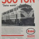 1950s Esso Railroad Products / Atlantic Coast Line / EMD FT locomotive ad