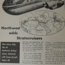 Texaco / Northwest Airlines Boeing 377 Stratocruiser ad