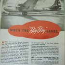 1940s Cleveland Pneumatic Tool / Aerols / Douglas XB-19 bomber ad