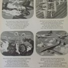 "1940s WWII Lockheed P-38 Lightning ""Fork Tailed Devil"" ad"