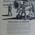 1950s Canadair / Sabre jet fighter ad