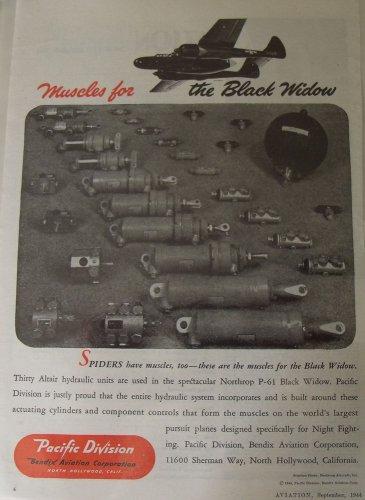 WWII Bendix Aviation / Northrop P-61 Black widow ad