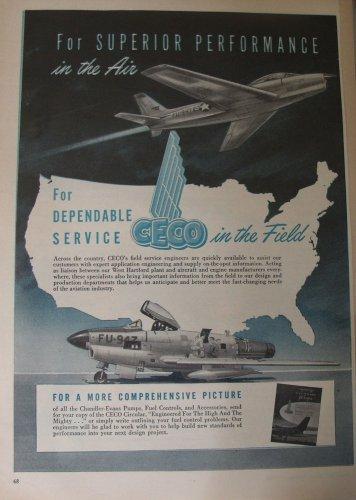 1950s Chandler-Evans / CECO / F-86D Sabre Dog ad