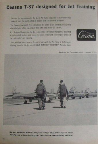 1950s Cessna T-37 Tweet trainer ad