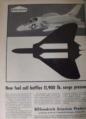 B.F. Goodrich / Douglas F4D skray jet fighter ad