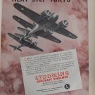 WWII Lycoming Aircraft engines Curtiss AT-9 ad
