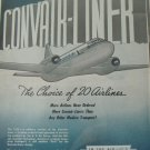 Consolidated Vultee Convair Convairliner ad