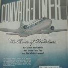 Consolidated Vultee Convair Convairliner ad