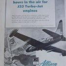 1950s Allison GM J33 turbojet / Lockheed F-80 Shooting Star ad
