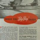 1940s Aerols landing gear / Douglas XB-19 superbomber ad