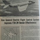 1950s General Electric GE / McDonnell F3H Demon ad