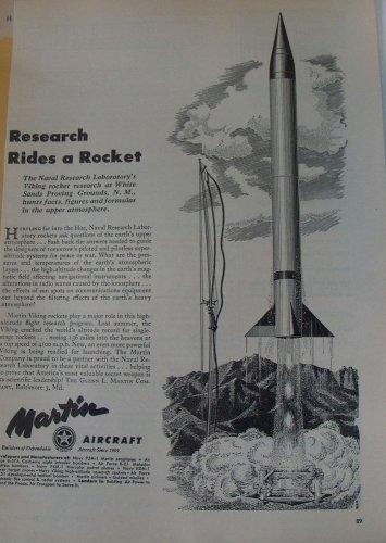 Martin Aircraft / Viking Research Rocket ad
