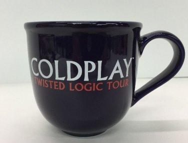 Vtg Midnight Dark Blue Coldplay Twisted Logic Tour Coffee Mug