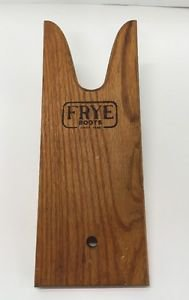 Vtg Frye Boots Wooden Boot Puller Store Display Branded Wood