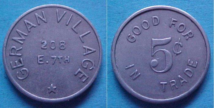 St. Paul MN German Village 5c merchant token