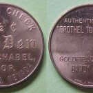 Goldfield NV The Den / W. A. Schabel 2 1/2c replica brothel token