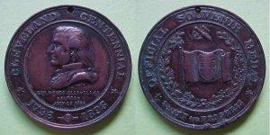 Cleveland OH Cleveland Centennial 1896 medal