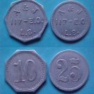 Long Beach CA A & J 10c and 25c merchant tokens K-269 K-270