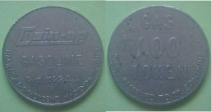 Hacienda Heights CA Coin-Op Gasoline $1.00 token