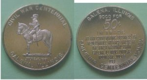 Galena IL Civil War Centennial 1961 50c token