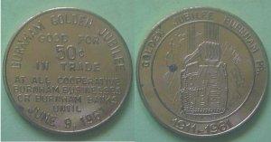 Burnham PA Golden Jubilee 1961 50c municipal trade token