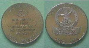 Puyallup WA Western Washington Fair 1965 50c merchant token