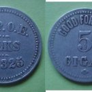Ann Arbor MI BPOE Elks No. 325 good for 5c cigar token