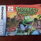 MANUAL ONLY Frogger's Adventures Temple of the Frog Game Boy Advance Booklet