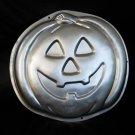 "Pumpkin cake pan Wilton Halloween 1995 Used 2105-3068 Jack O Lantern 12"""