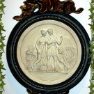 FRENCH INSPIRED WALL PLAQUE LADY WITH WHEAT