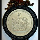 FRENCH INSPIRED WALL PLAQUE LADY WITH CHERUBS
