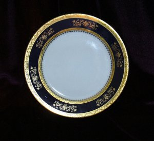 PHILIPPE DESHOULIERES ORSAY COBALT SALAD PLATE