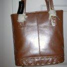 Sondra Roberts Pink Leather Tote Bag
