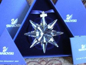 Swarovski 2009 Annual Snowflake Ornament New in Box