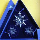 Swarovski 2009 Annual Ornament Set of 3
