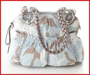 B. Makowsky Caroline Camouflage  Leather Handbag Denim-Multi