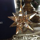 Swarovski 3-D Star Ornament Golden Shadow