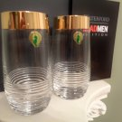 Waterford Mixology Mad Men Edition Circon Highball Pair Gold Band