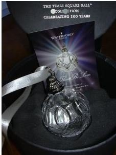 Waterford Times Square Ball Ornament Let There Be Love