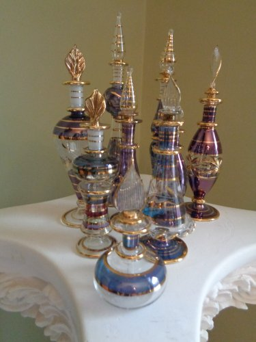 Egyptian Perfume Bottles Set of 9