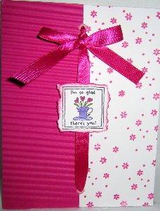 Handmade Card - Friendship Pink/White