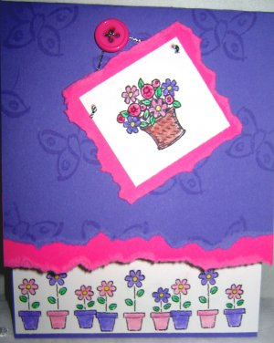 Handmade Card - Picture of Flowers