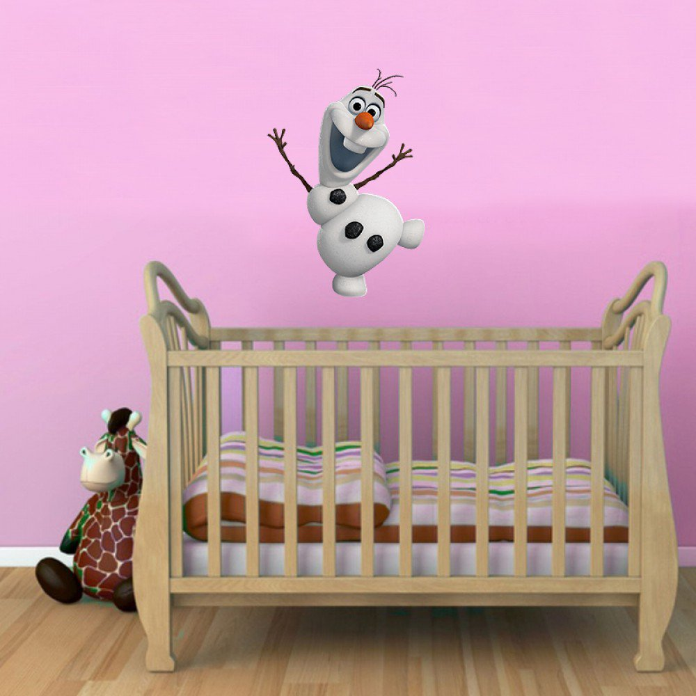 Frozen Olaf Kids Boy Girls Bedroom Full Colour Vinyl Decal Wall Window Sticker Car Gift Present