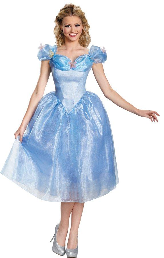 Disney Princess New Cinderella Movie Dress Deluxe Costume Large size 10-12