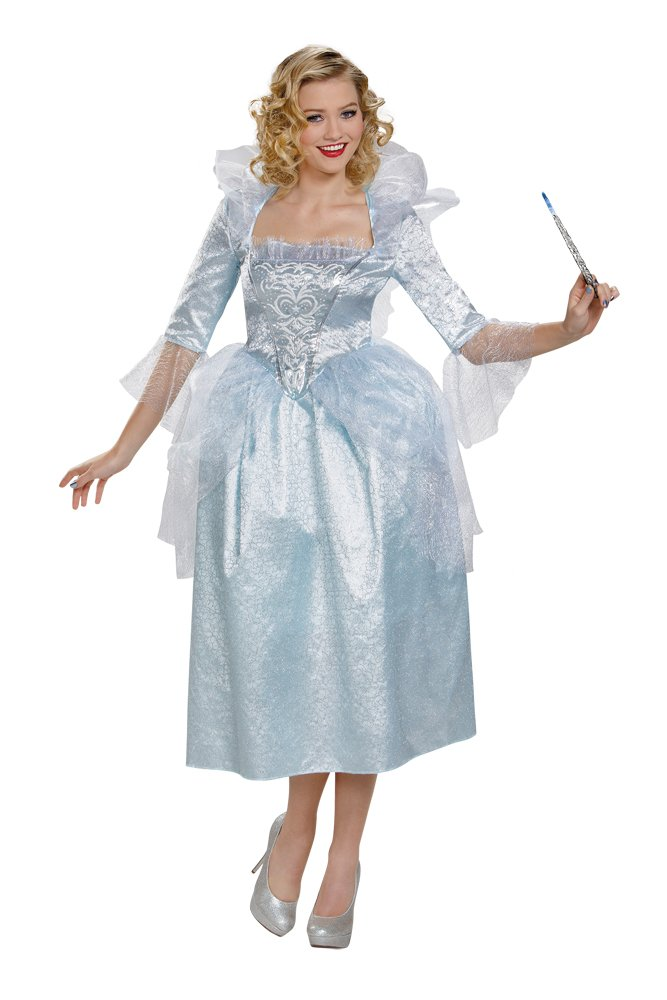 Disney Princess New FAIRY GODMOTHER ADULT Movie Dress Deluxe Costume Medium  size 8-10