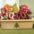 High Sierra Deluxe Christmas Crate Gift Basket