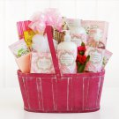 Valentine Rosewater & Jasmine Pink Spa Basket Gift For Her