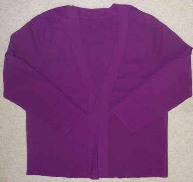 Duet Cardigan with Matching Tank*Jam Purple*Cardigan Long Sleeves*Tank Sleeveles