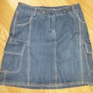 MERONA*Jeans Mini Skirt*Solid*6 pockets*Blue*Size 4*100% Cotton*